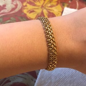 Jewelry - Italian 18kt Yellow Gold Woven Link Bracelet